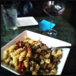 my delicious pasta dish at Wine Exchange!!