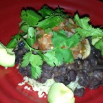 warm bowl, which was brown basmati rice, with quinoa, black beans, lomi-lomi and avocado